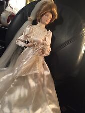 "Franklin Heirloom Mint The Gibson Girl Bride Doll 22"" Porcelain Doll"