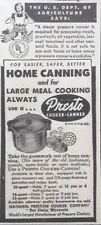 1950 AD(XE21)~NATIONAL PRESSURE COOKER CO. EAU CLAIRE, WISC. PRESTO COOKER