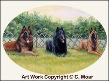 Belgian Shepherd Tervuren Sheepdog Malinois Dog Obedience OE Art Print CMOAR