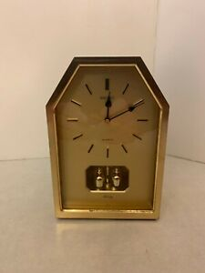 Seiko Melody Quartz Alarm Mantle Clock - Model QM101G - Three Alarm Sounds
