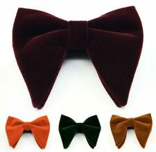 Men's Velvet Big Bow tie Wedding Prom Tuxedo Necktie Bow Tie Classic Adjustable