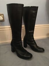 Stunning French Connection Black Leather Boots UK 7.5/ EU 41