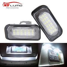 2pcs Benz W203 4D Sedan LED License Plate Light led number light bulb rear lamp