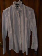 NWT Medium Ralph Lauren Jeans Co 100% Cotton White Shirt, Fitted, Ruffled $89.50