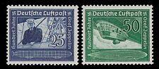 1938 GERMANY AIR POST FERDINAND VON  ZEPPELIN AIRSHIP  SCOTT  C59 - C60