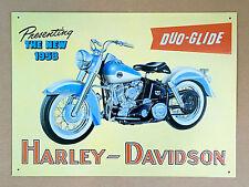 Harley-Davidson Duo-Glide 1958 - Tin Metal Wall Sign