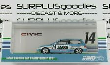 INNO64 1:64 1991 HONDA CIVIC EF9 #14 JACCS JTC Japan Touring Car Championship