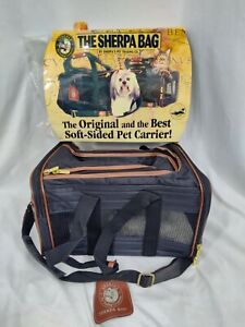 Sherpa's Pet Trading Company Deluxe Dog Cat Pet Carrier Bag Black Small