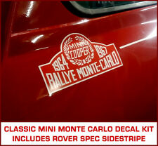 Classic Rover Mini Cooper Monte Carlo Decal Kit Paddy Hopkirk pinstripe side