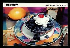 Recipe postcard WW Blueberry Delight Delice Aux Bleuets Quebec Canada