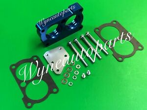 Fits 85-91 Camaro  & 87-91 Pontiac Firebird V8 5.7L Throttle Body Spacer Blue