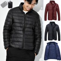 Men's 90% Goose Duck Down Jacket Stand Collar Packable Lightweight Puffer Coat