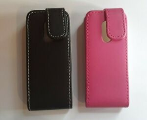 Vertical style PU leather flip phone case, cover to fit Nokia Lumia 105 - 2013