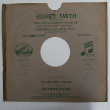 "78rpm 12"" card gramophone record sleeve SIDNEY SMITH , ROCHDALE RD  MANCHESTER"