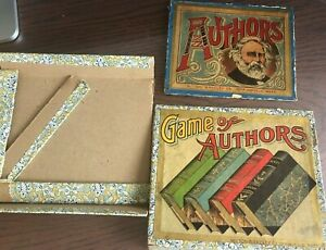 VINTAGE    GAME OF AUTHORS    CARD GAME BY MILTON BRADLEY