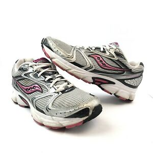 Saucony Cohesion 5 Womens Size 10 Silver White Pink Running Shoe Sneaker