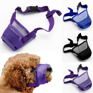 Dog Safety Muzzle Muzzel Adjustable Biting Barking Chewing Small Medium Larg