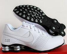 Nike Men Shox Deliver White-Metallic Silver-Black SZ 13 [317547-109]