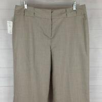 Larry Levine Signature women sz 14 gray rose wide bootcut dress career pants NWT