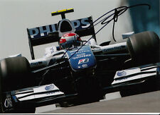 Kazuki Nakajima mano firmado AT&T Williams F1 Foto 7x5 16.