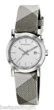 NEW BURBERRY ENGRAVED DIAL SMOKED PLAID CHECKED SIGNATURE BAND WATCH BU1799-NEW