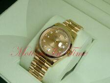 Rolex Day-Date President 18kt Yellow Gold Bezel Champagne Diamond Dial 118238