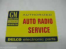 Vintage,Auto,Radio,Service,GM,Delco Electronics,Metal Sign,12x18