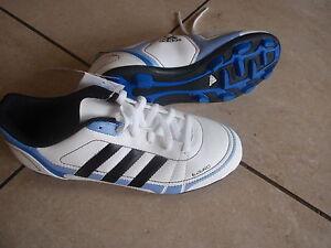 Adidas neue Fußballschuhe Ezeiro TRX HG J weiß/blau Größe 38