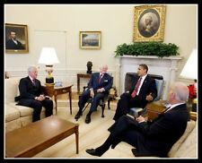 Barack Obama Bill Clinton Photo 8X10 - Ted Kennedy Joe Biden President Democrat