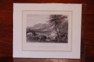 Veduta Della Val Lucerna Incisione originale su acciaio , Mapei