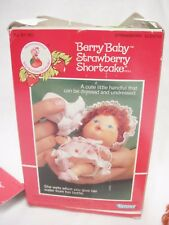 Vintage Berry Baby Strawberry Shortcake Doll Drinks Wets Scented Original Box