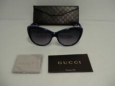 Authentic GUCCI Fashion Cat Eye Blue Violet Sunglasses GG 3510S WOIDG
