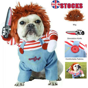 Pet Dog Cat Winter Clothes Party Fancy Dress Cosplay Funny Outfit Costume SML UK