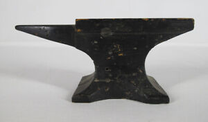 """Antique Wooden Small Anvil Foundry Pattern Mold 3 ¼"""" x 8"""" - Awesome Piece #1 yqz"""