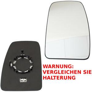 SPIEGELGLAS BEHEIZBAR RECHTS FÜR RENAULT MASTER MK3 OPEL MOVANO B NISSAN NV400