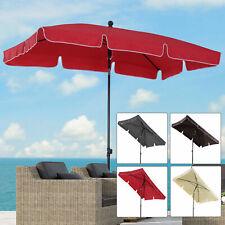 Sun Umbrella Parasol Patio Garden Rectangular Aluminium 2 Colours 2x1.25M