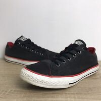 Converse All Star Uk Size 4 Charcoal Grey Black Red Low Top Trainers