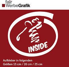 """Aufkleber Golfsport / """"Golfer Inside"""" / Sticker / Autoaufkleber / #001"""