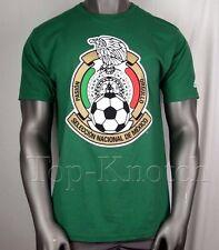 ADIDAS Seleccion National Mexico Logo T Shirt  Green Gold Red Soccer Mens Medium