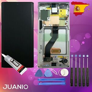 "Vidrio táctil + LCD en marco para Samsung Galaxy Note 10 SM-N970F 6.3"" Blanco"