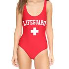 Lifeguard One Piece Red Swimsuit- Baywatch Sexy Monokini
