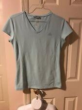 ADIDAS Shirt Women's Size Large CLIMALITE  Light Blue