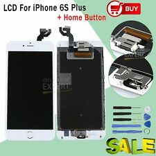 """for iPhone 6s Plus 5.5"""" LCD Touch Screen White Digitizer Home Button & Camera UK"""