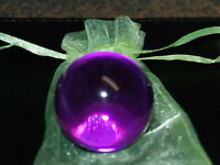 MARBLES: Huge Transparent Boulder 1 1/2 Purple Clearie Marble Free Marble Bag