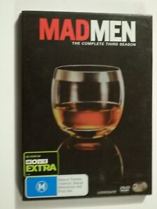 Mad Men The Complete Third Season (Season 3) 3 Disc Set DVD with sleeve GOOD