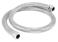 "5/8""I.D. x 35"" Steel Braided Heater Hose Kit Worm Gear Clamps, Chrome"