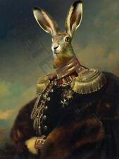 Prince Andreï Obolensky Hare Head Remix Rabbit Print Only Type Poster hp3749