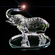 Crystal Crystal Cut Glass Elephant Ornament Animal Swarovski African Statue 10cm