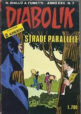 DIABOLIK / IL GIALLO A FUMETTI _ ANNO XXII - N. 7_ STRADE PARALLELE_ CON ADESIVI