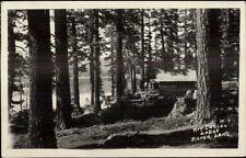 Kit Carson Lodge - Silver Lake Maine ME Real Photo Postcard